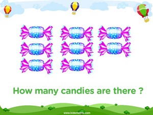 Counting eight candies