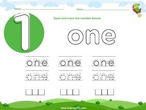 Spelling number one worksheet