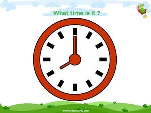 Telling time eight o clock