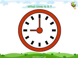 Telling time nine o clock