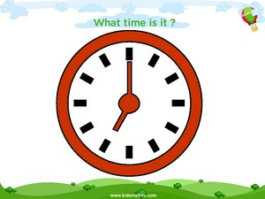 Telling time seven o clock