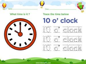 Tracing time ten o clock