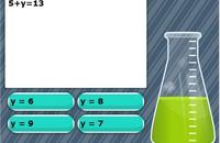 Solve for variables game