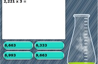 Multiplication by 1 digit numbers game