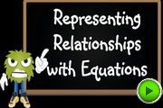 Representing relationships with equations video