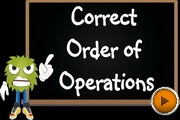 Correct Order Operations video