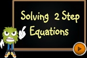 Solving 2 Step Equations 2 video