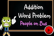 Addition Word Problem People on Bus video