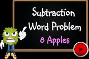 Subtraction Word Problem 8 Apples video