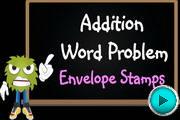 Addition Word Problem Envelope Stamps video