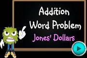 Addition Word Problem Jones Dollars video