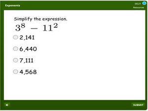grade 6 Exponents