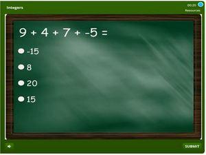 grade 6 Integers